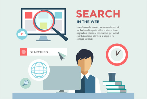 Search In The Web Illustration