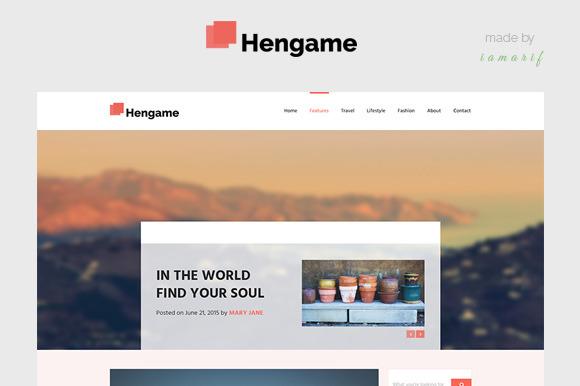 HENGAME A Blog PSD Template