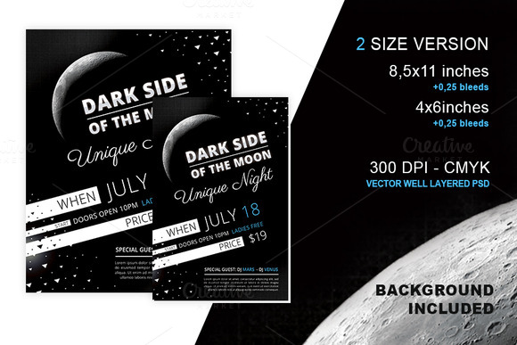 Party Flyer Dark Side Of The Moon