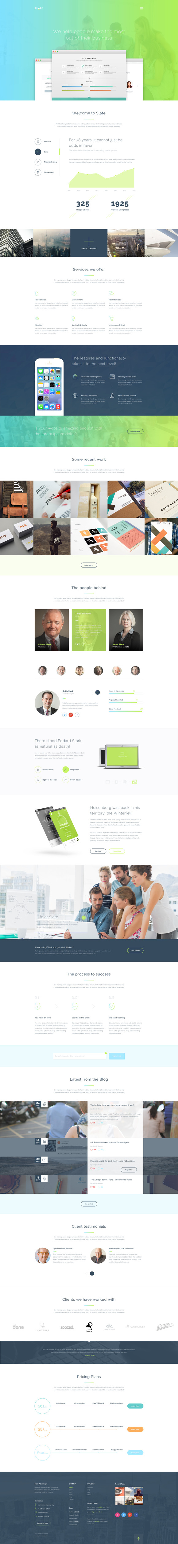 Slate Multipurpose HTML5 Theme