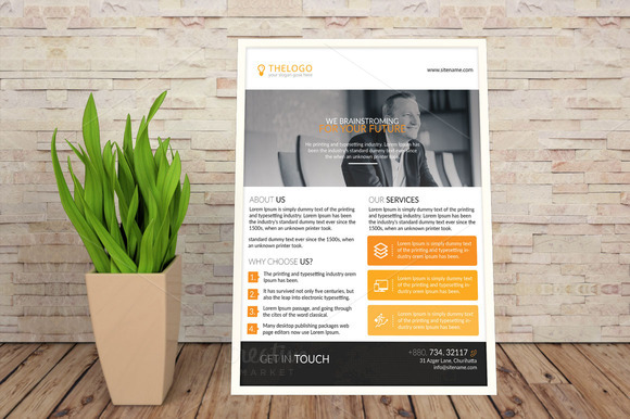 Clean Pro Business Flyer Template