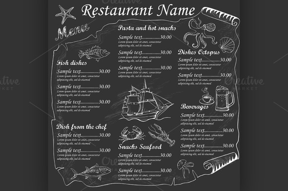 Menu Seafood Restaurants