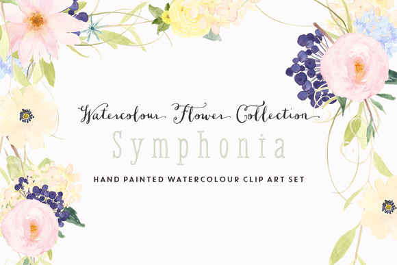 Watercolour Flower Clip Art