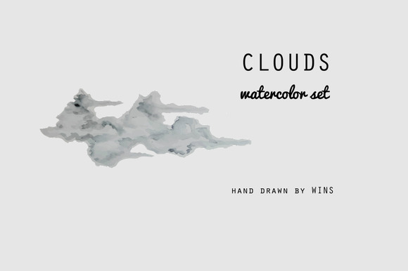 Watercolor Clouds BONUS