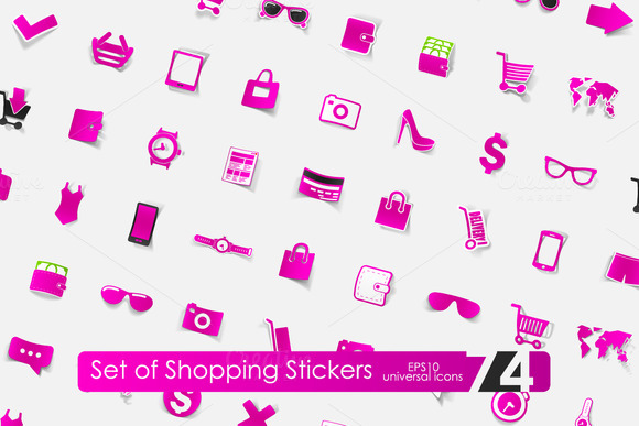 74 Shopping Stickers