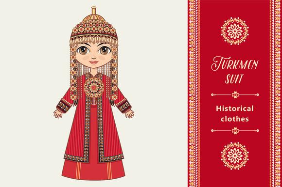 The Girl In Turkmen Dress
