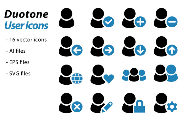Duotone User Icons