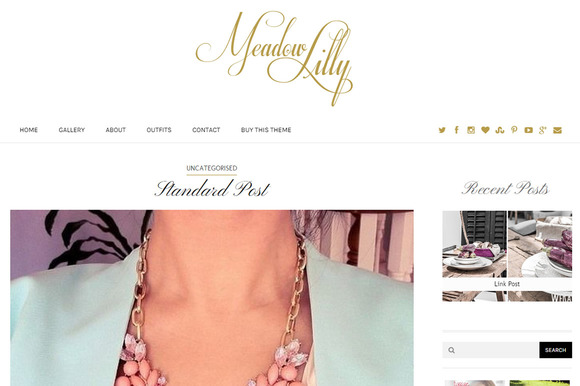 Meadow Lilly Personal Blog Theme