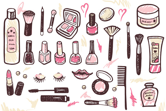 Cosmetics Makeup Kit 4 Patterns