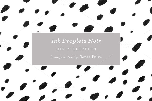 Ink Droplets Noir