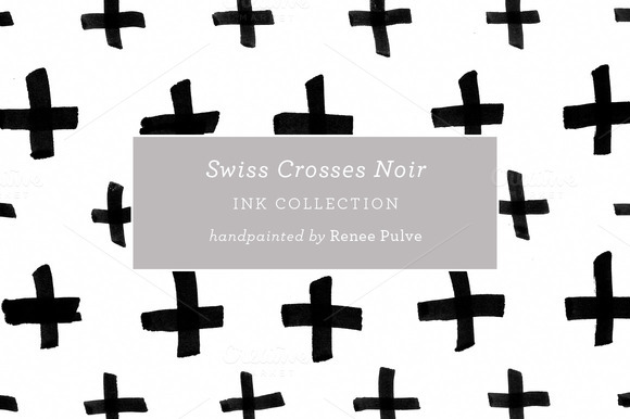 Swiss Crosses Noir