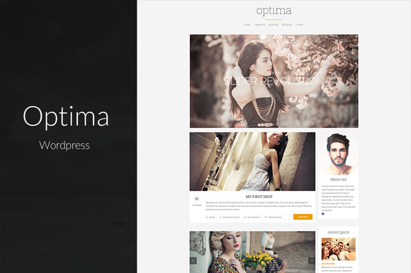 Optima Clean Clear Blog Theme