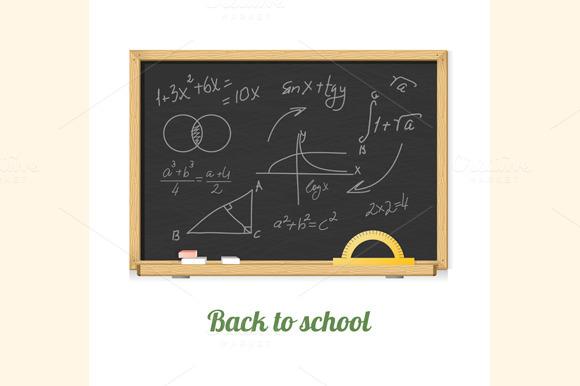 Vector Chalkboard Set