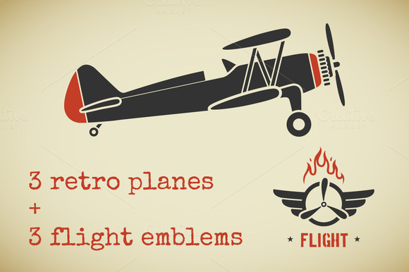 Vintage Plane Set