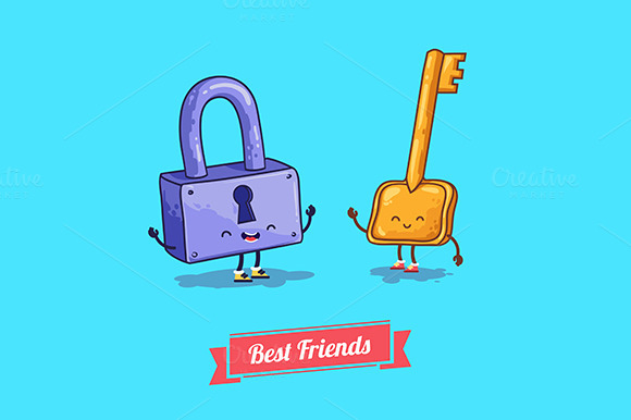 Funny Characters Best Friends