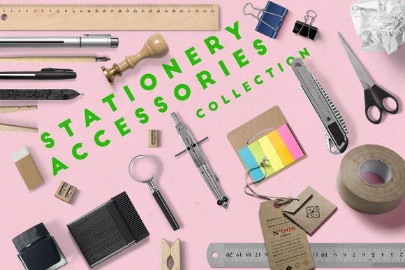 Stationery Accessories Scene Creator