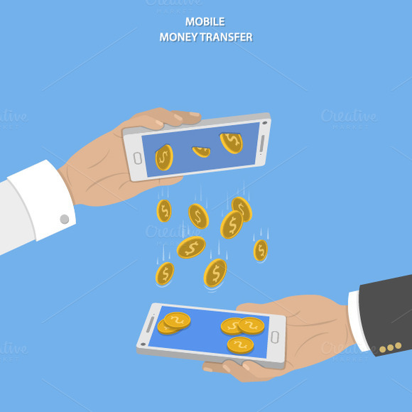 Mobile Money Transfer Concept