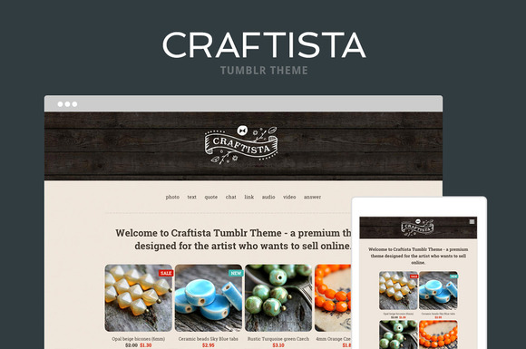 Craftista Tumblr Theme