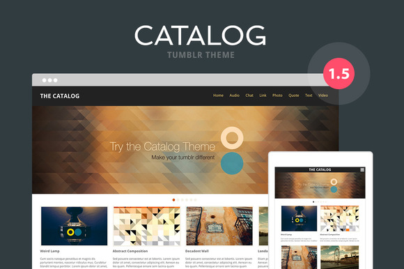 Catalog Tumblr Theme