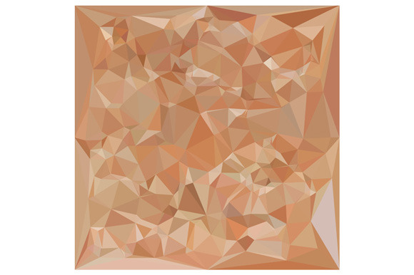 Fawn Brown Abstract Low Polygon Back