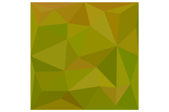 Heart Gold Green Abstract Low Polygo