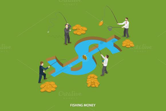 Fishing Money Concept