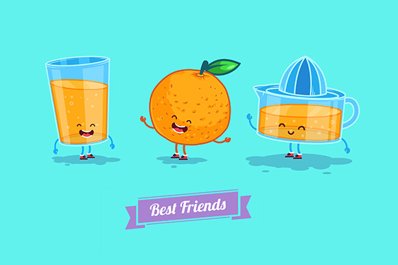 Funny Glass Orange And Juice
