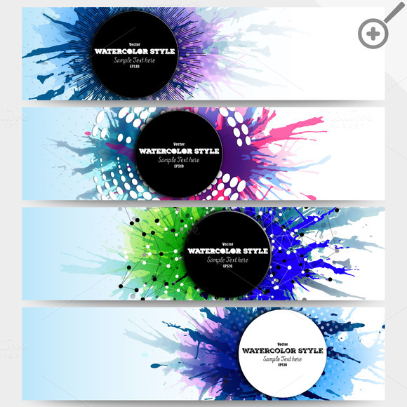Colorful Banners Abstract Headers