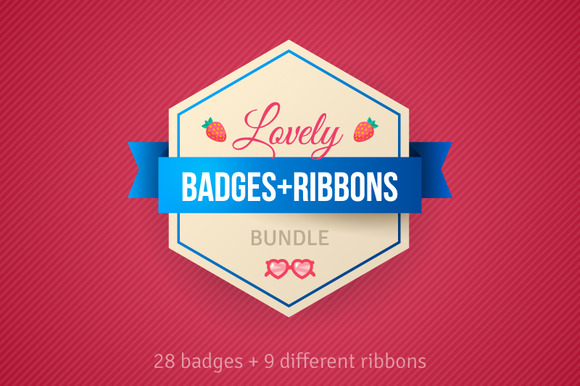 Ribbons And Badges Bundle