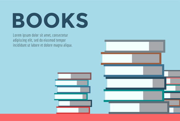 Books Stack Vector Icon Isolated