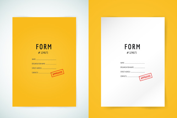 Form Blank Illustration Folder