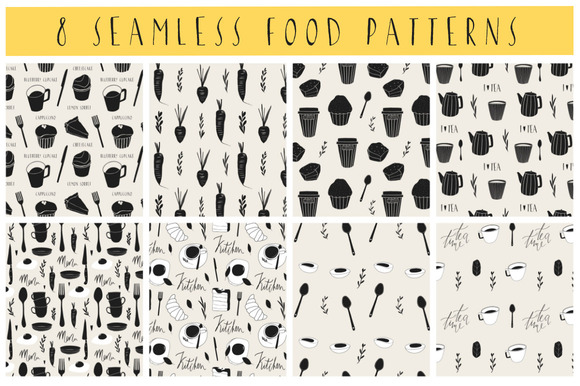8 Seamless Food Patterns