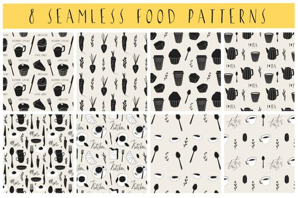 8 Seamless Food Patterns
