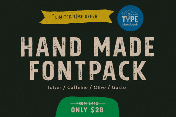 4 Hand-Drawn Fonts From Typesketchbo