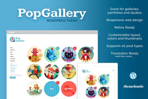Pop Gallery WordPress Theme