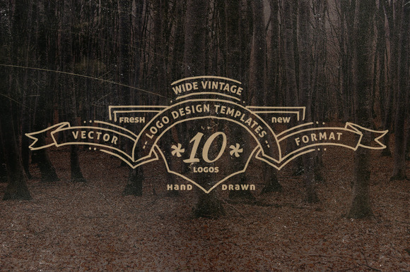 Wide Vintage Logo Templates