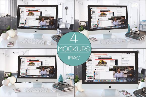 4 Mockups IMac