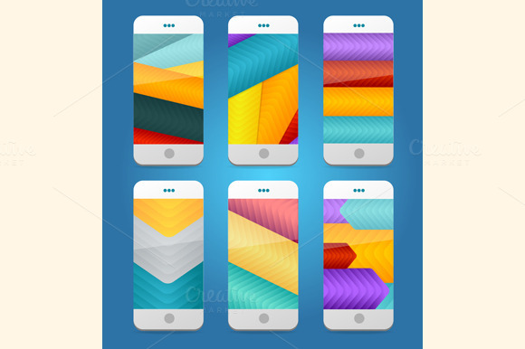 Vector Mobile Phones Backgrounds