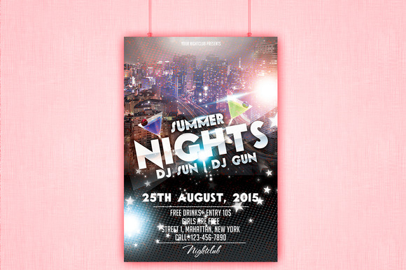 Summer Nights Party Flyer