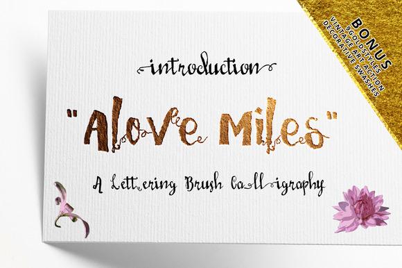 Love Mile Typeface