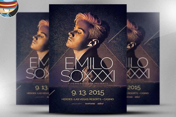 Minimal House Night Flyer Template 2