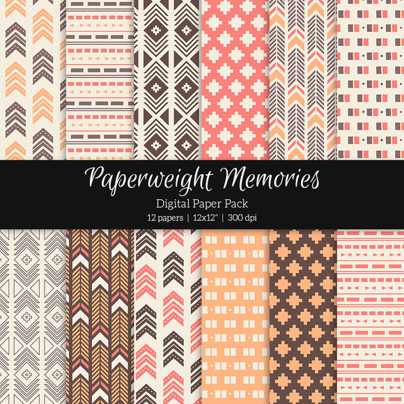 Patterned Paper Tribal Aztec Pink