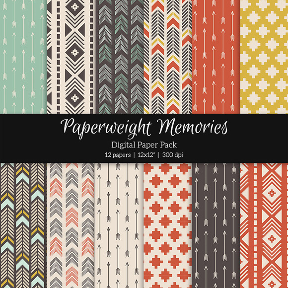 Patterned Paper Tribal Tones