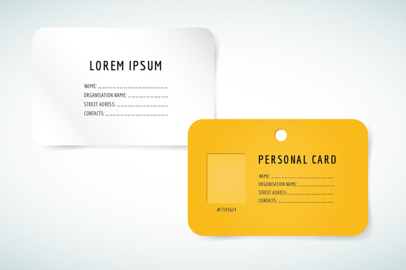 Personal Yellow Card Blank Template