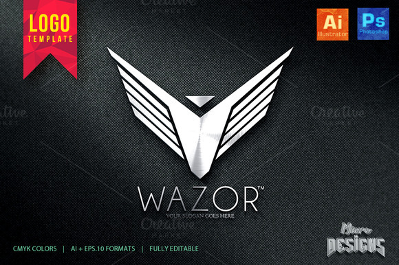WAZOR Logo Template