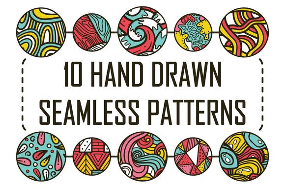 10 Seamless Hand Drawn Pattern
