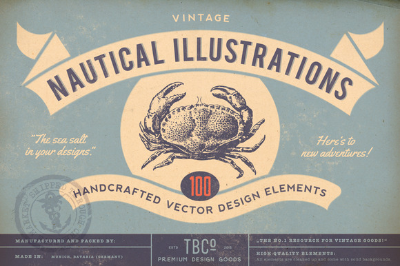 100 Vintage Nautical Illustrations
