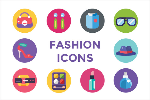 Clothes And Fashion Icons Set Shop