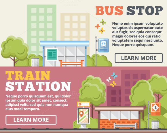 Bus Stop Train Station Concepts