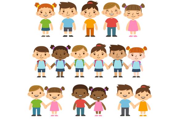 Cute Cartoon Children